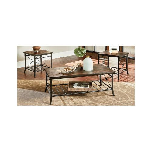 Gallery - 3 Pack of Tables - Cocktail Table & Two End Tables