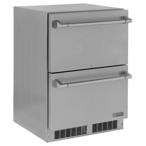 "Gallery - Lynx 24"" Two Drawer Refrigerator"