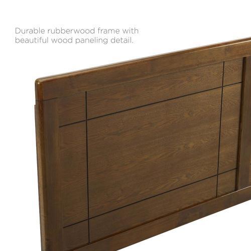 Modway - Archie Queen Wood Headboard in Walnut