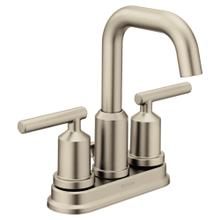 Product Image - Gibson Brushed nickel two-handle high arc bathroom faucet