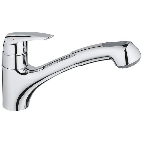 Eurodisc Single-handle Pull-out Kitchen Faucet Dual Spray 1.75 Gpm