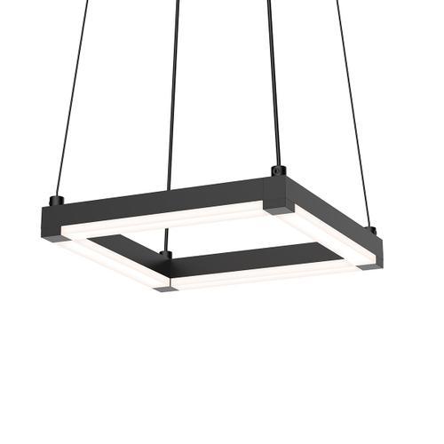 """Sonneman - A Way of Light - Stix Square LED Pendant [Size=9"""", Color/Finish=Satin Black]"""