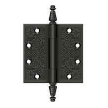 """4-1/2"""" x 4-1/2"""" Square Hinges - Oil-rubbed Bronze"""
