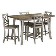 Fairhaven Counter Height Table and Four Chairs Set, Grey Product Image