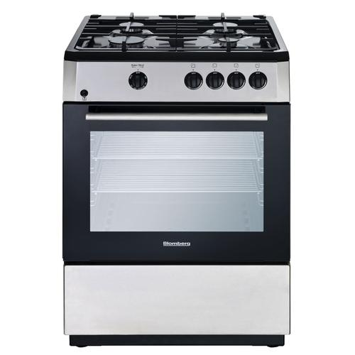 "Blomberg Appliances - 24"" Freestanding gas range, Stainless Steel"