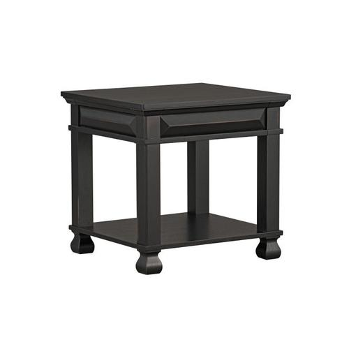 Passages End Table, Vintage Black