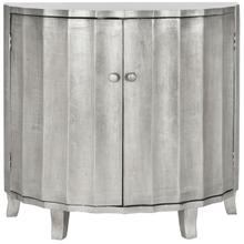See Details - Rutherford Demilune Cabinet / Silver - Silver