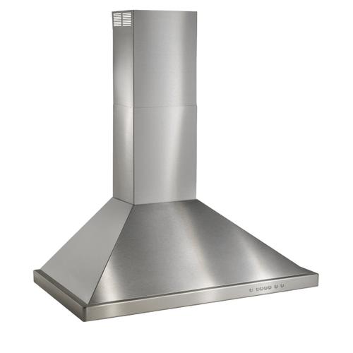 BEST Range Hoods - 30-inch Wall Mount Chimney Hood, 675 Max Blower CFM, Brushed Stainless Steel (WTT32 Series)