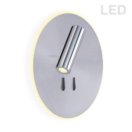 12w LED Wall Sconce W/ 3w Reading Light Sc/pc