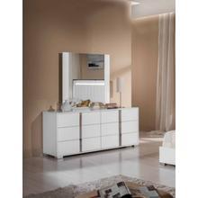 Modrest San Marino Modern White Mirror