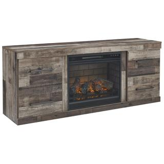 """See Details - Derekson 60"""" TV Stand With Electric Fireplace"""
