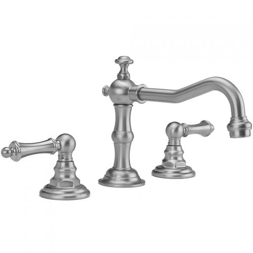 Antique Brass - Roaring 20's Faucet with Ball Lever Handles & Fully Polished & Plated Pop-Up Drain