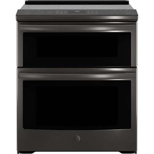 """GE Profile™ 30"""" Smart Slide-In Electric Double Oven Convection Range (This is a Stock Photo, actual unit (s) appearance may contain cosmetic blemishes.  Please call store if you would like actual pictures).  This unit carries our 6 month warranty, MANUFACTURER WARRANTY and REBATE NOT VALID with this item. ISI 33171"""