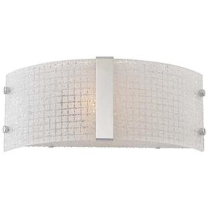 Wall Sconce, Chrome/frost Glass Panels, E27 Type G 60w