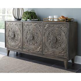Fair Ridge Accent Cabinet Dark Brown