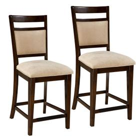 Avion 2-Pack Upholstered Barstools, Cherry Brown