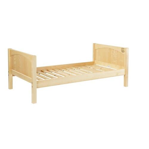 Basic Bed (Low/Low) : Twin : Natural : Panel