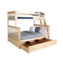 View Product - Twin/Full Bunk   Trundle Storage Natural