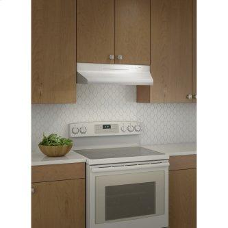 Broan™ BU2 Series 30-Inch Under-Cabinet Range Hood, 210 Max Blower CFM, White