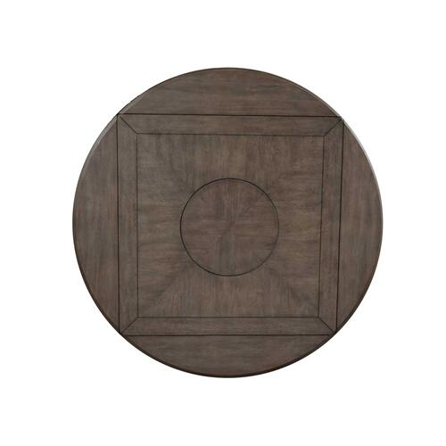 Abacus 59-inch Round Drop-leaf Storage Table