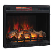 "28"" 3D Infrared Quartz Electric Fireplace Insert with Safer Plug® and Safer Sensor"