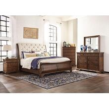 Trisha Yearwood King Sleigh Bedroom Set: King Sleigh Bed, Nightstand, Dresser & Mirror
