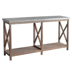 Newhart Rustic Wood and Galvanized Metal Console