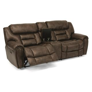 See Details - Buster Power Reclining Loveseat with Console and Power Headrests