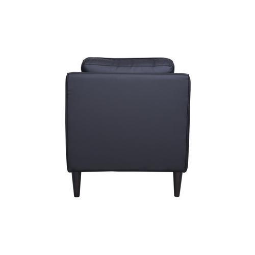 Porter International Designs - Lazio Black Leather Sofa, Loveseat & Chair, L5990