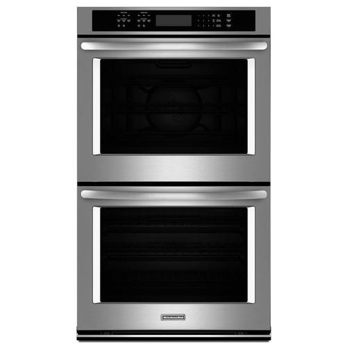 """Gallery - KitchenAid® 30"""" Double Wall Oven with Even-Heat True Convection - Stainless Steel"""