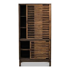 Groovy Doors Bookcase, Brown