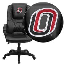 Nebraska at Omaha Mavericks Embroidered Black Leather Executive Office Chair