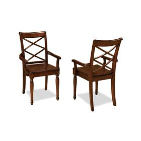 Dbl X Arm Chair(2/Ctn)