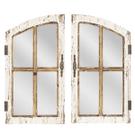 Distressed Window Pane Wall Mirror (2 pc. set) Product Image