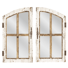Distressed Window Pane Wall Mirror (2 pc. set)