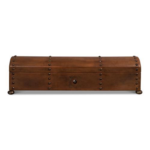 Telescope Leather Box W/Tacks