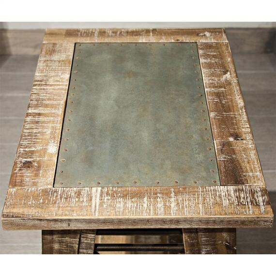 Riverside - Rowan - Chairside Table - Rough-hewn Gray Finish