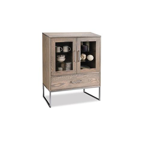 - Electra Display Cabinet with 2/Glass Doors & 1/Drawer & 2/Glass Adjust Shelves