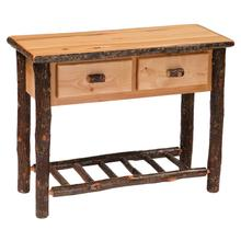 Two Drawer Sofa Table - Natural Hickory