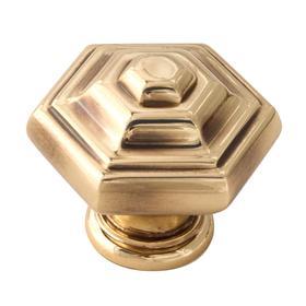 Geometric Knob A1530 - Polished Antique