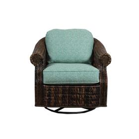 Swivel Glider, Rattan Body in Seagrass Finish. With Upholstered Cushions.