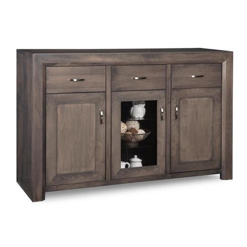 - Contempo Sideboard w/2 Wood Doors &1/Center Glass Door &3/Dwrs & 2/Wood & Glass Adjust.