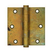 """3-1/2"""" x 3-1/2"""" Square Hinges - Rust"""
