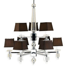 AF Lighting 6760 9-Light Chandelier- Chocolate Shades, 6760-9H