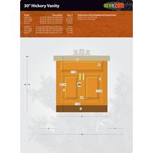 "Hickory Vanity - 30"""