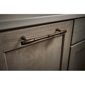 Top Knobs - Nouveau Bamboo Appliance Pull 8 Inch (c-c) Pewter