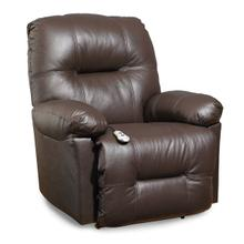 Zaynah Medium Leather Rocker Recliner (Walnut)