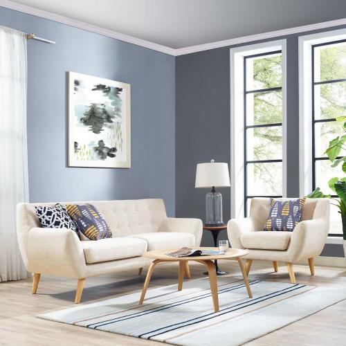 Remark 2 Piece Living Room Set in Beige