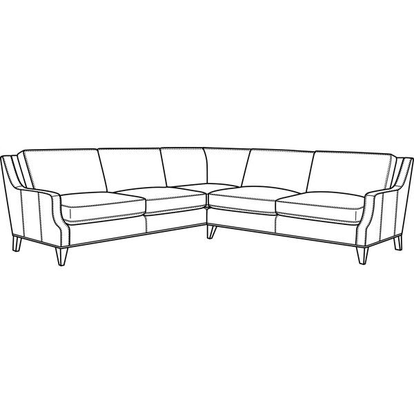 See Details - Leather Sectional