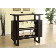 "HOME BAR - 48""L / ESPRESSO WITH BOTTLE / GLASS STORAGE"
